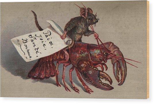 Lobster Jockey Wood Print by Hulton Archive