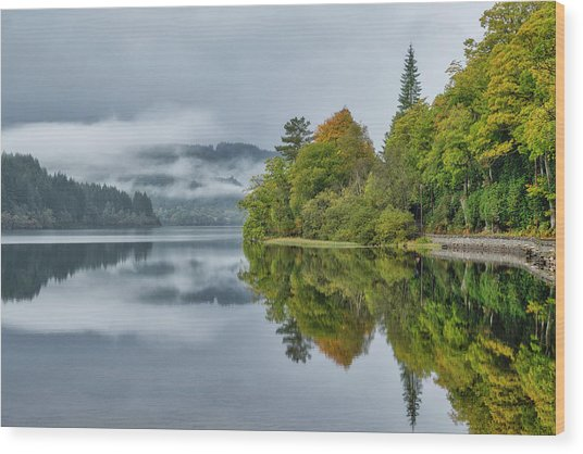 Loch Ard In Scotland Wood Print