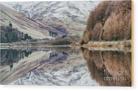 Loch Of The Lowes Winter Wood Print