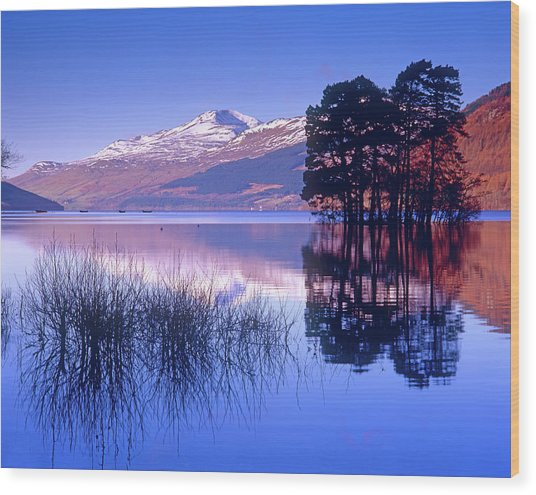 Loch Tay, Kenmore, Scotland Uk Wood Print by Kathy Collins