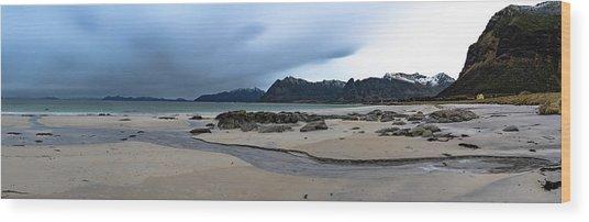 Lofoten Beach Wood Print