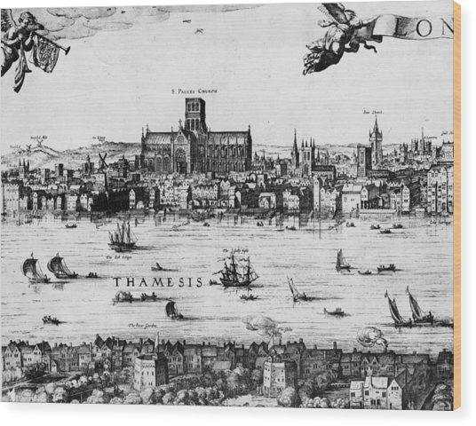 London 1616 Wood Print by Hulton Archive
