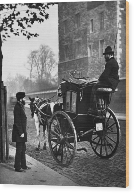 London Cabmen Wood Print by John Thomson