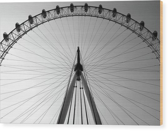 London_eye_i Wood Print