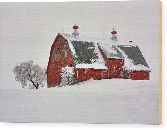 Lone Barn Wood Print