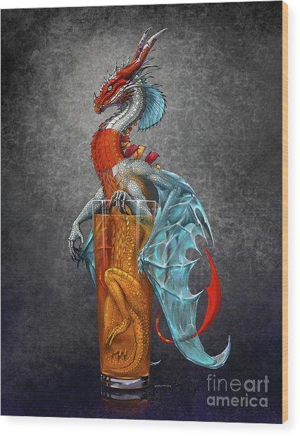 Long Island Ice Tea Dragon Wood Print