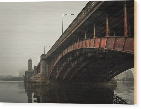 Wood Print featuring the photograph Longfellow Bridge I Color by David Gordon