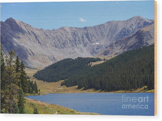 Longs Peak Colorado Wood Print