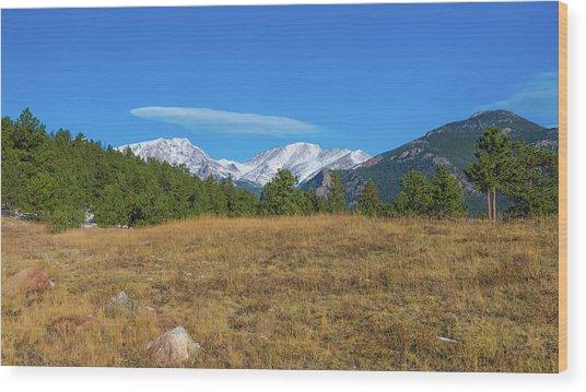 Longs Peak From Upper Beaver Meadows Wood Print