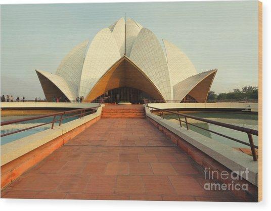Lotus Temple, New Delhi, India Wood Print