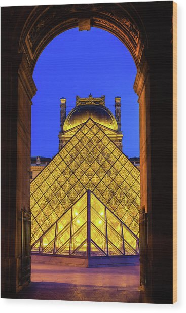 Louvre Framed Wood Print by Andrew Soundarajan