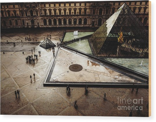 Wood Print featuring the photograph Louvre by Miles Whittingham