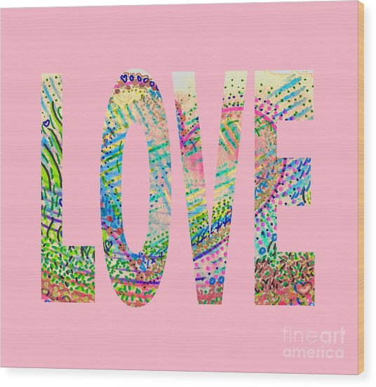 Love 1001 Wood Print