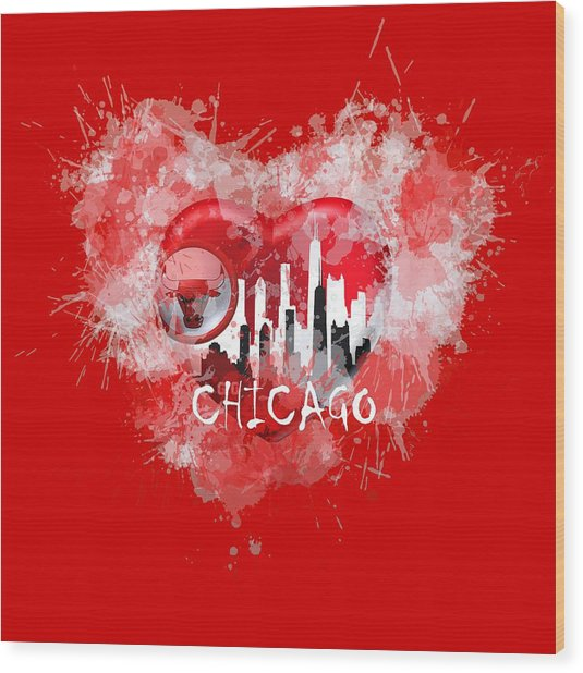 Love Chicago Colors Wood Print