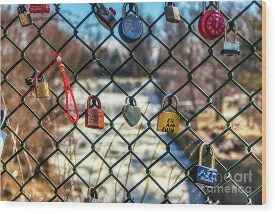 Love Locks Wood Print