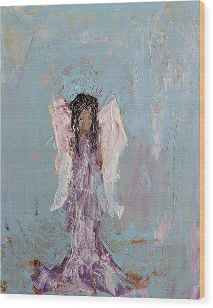 Lovely Angel  Wood Print