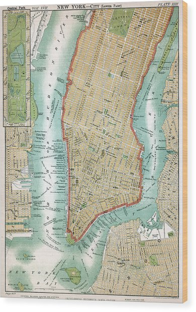 Lower Manhattan, C. 1890 Wood Print by Kean Collection