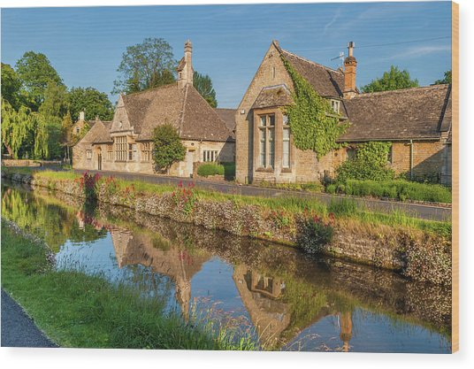 Lower Slaughter And The River Eye Wood Print by David Ross