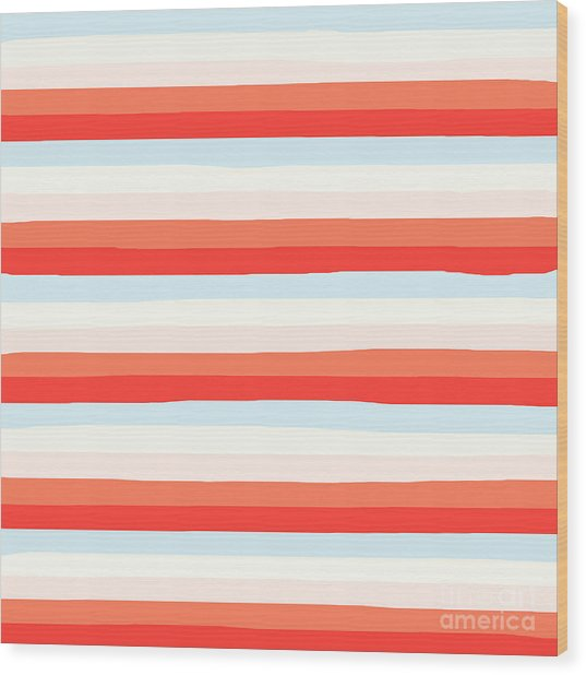 lumpy or bumpy lines abstract and colorful - QAB266 Wood Print