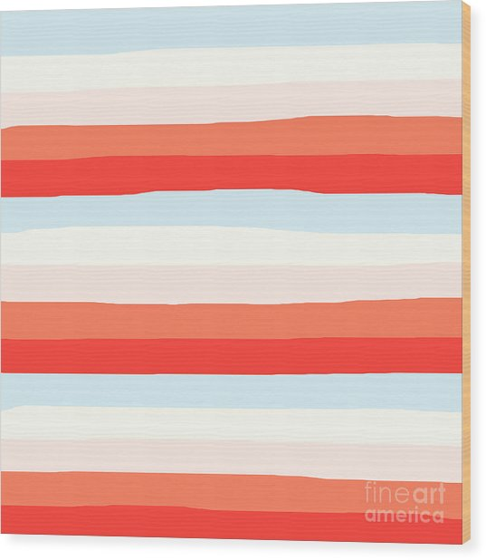 lumpy or bumpy lines abstract and colorful - QAB268 Wood Print