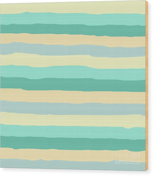 lumpy or bumpy lines abstract and summer colorful - QAB271 Wood Print