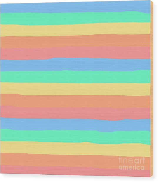 lumpy or bumpy lines abstract and summer colorful - QAB275 Wood Print