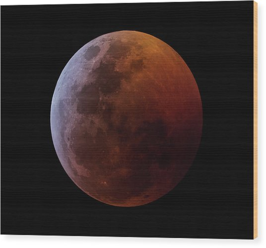 Lunar Eclipse 2019_11h44m Wood Print