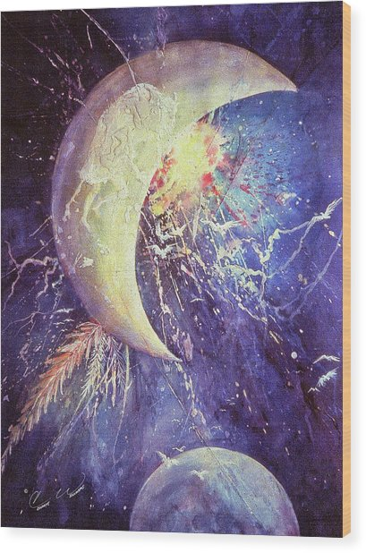 Lunar Spirit Wood Print