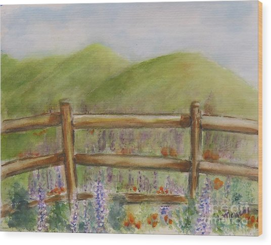 Lupines With A Side Of Poppies Wood Print