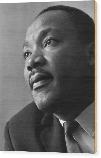 Luther King Wood Print by Reg Lancaster