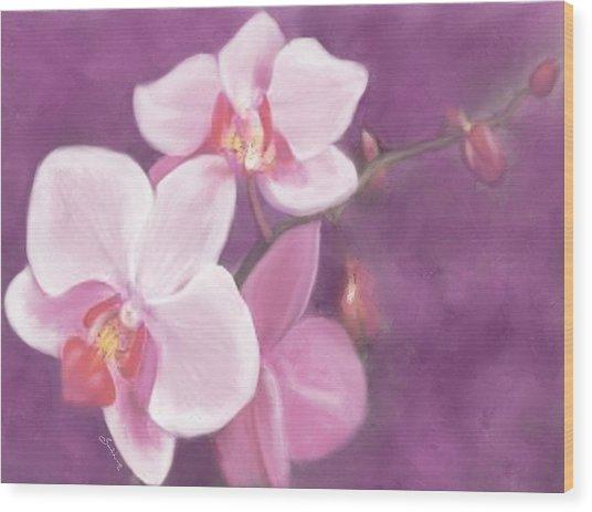 Luxurious Petals Wood Print