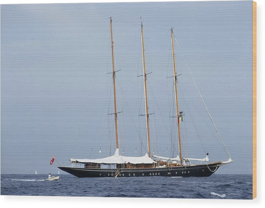 Luxury Yacht Wood Print by Slim Aarons