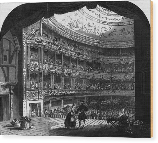 Lyceum Theatre Wood Print by Hulton Archive