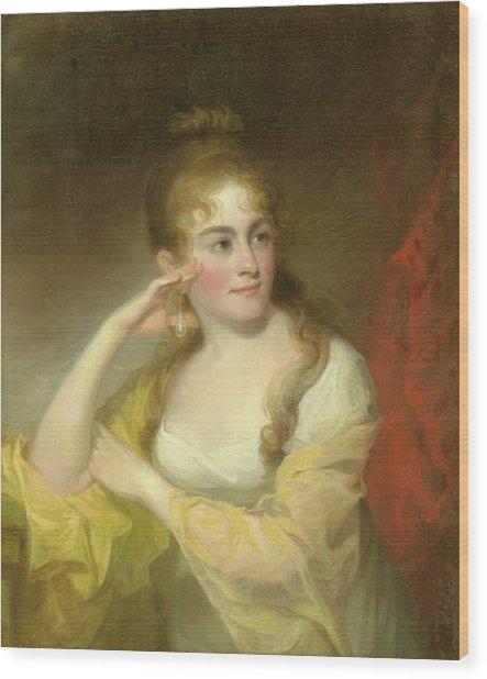 Portrait Of Lydia Leaming, 1806 Wood Print