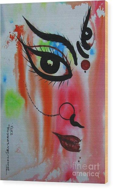Ma Durga-5 Wood Print