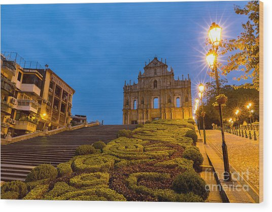 Macau Ruins Of St. Pauls. Built From Wood Print