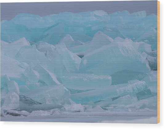 Mackinaw City Ice Formations 21618010 Wood Print