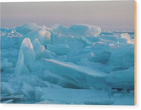 Mackinaw City Ice Formations 2161807 Wood Print