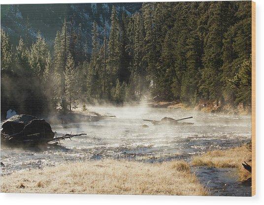 Madison River Morning Wood Print