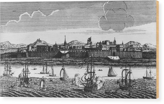 Madras Seaport Wood Print by Hulton Archive