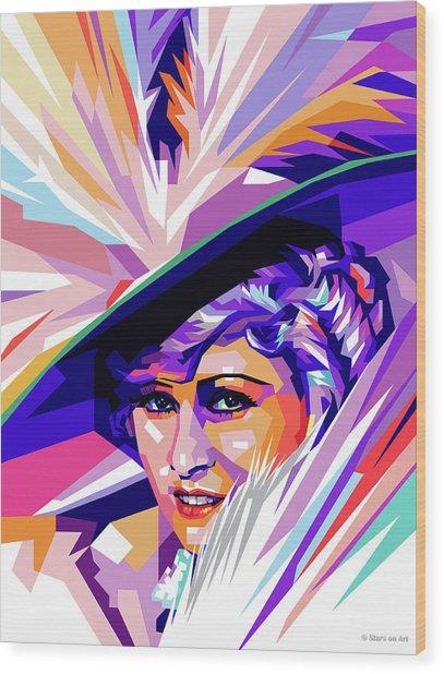 Mae West Pop Art Wood Print