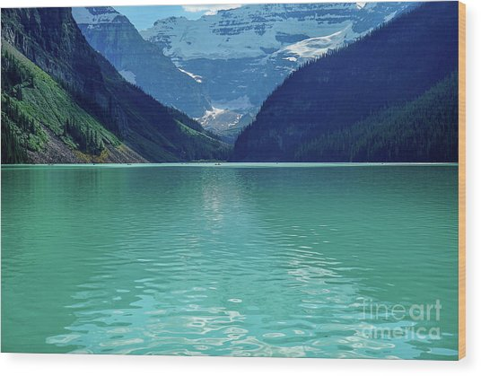 Magic At Lake Louise Wood Print