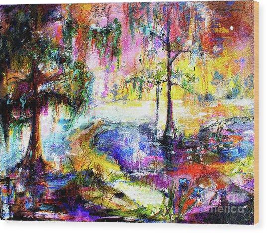 Magic Of The Wetland Okefenokee Georgia Wood Print by Ginette Callaway