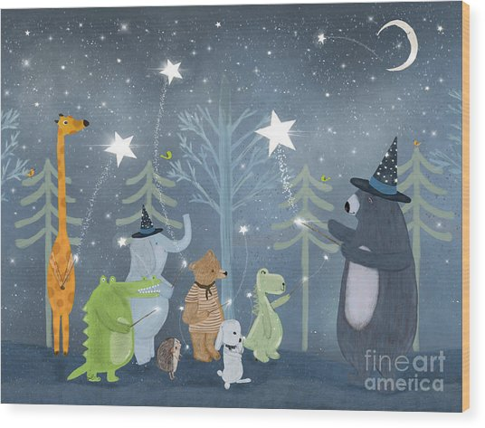 Magic Stars Wood Print by Bri Buckley