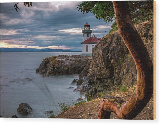 Magic Sunset - Lime Kiln Light Wood Print