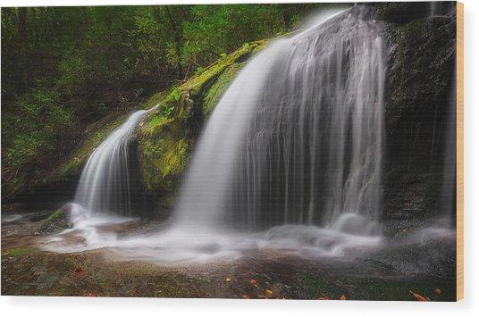Magical Falls Wood Print
