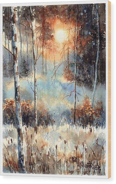Magical Sun Wood Print