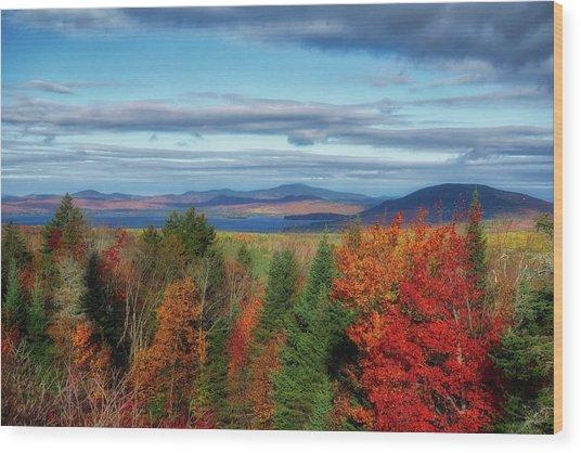 Maine Fall Foliage Wood Print