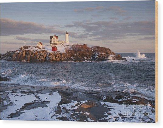Maines Nubble Cape Neddick Lighthouse Wood Print