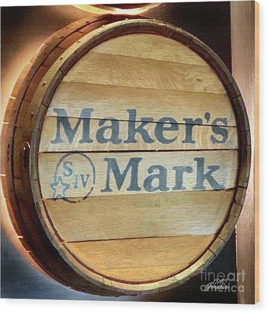 Makers Mark Barrel Wood Print